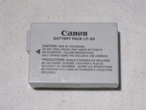 Canon LP-E8 Original batteries