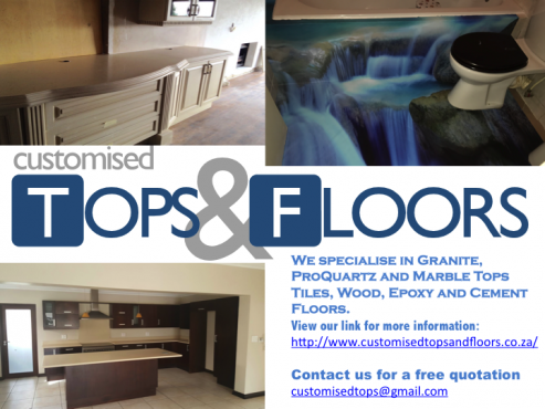 Counter Tops and Floors to suit your design and budget