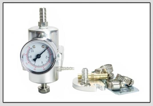 Universal Adjustable FPR Fuel Pressure Regulator 0-140 PSI with Gauge and Hose Kit