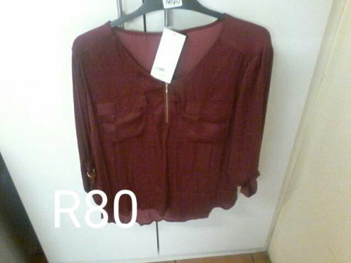 Ladies red blouse