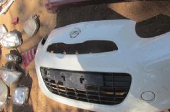 2013 Nissan Micra Front Bumper White For Sale