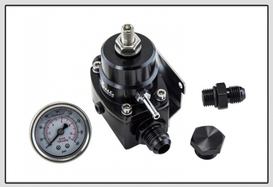 High Pressure Fuel Regulator w/ boost -8AN 8/8/6  - Fuel Pressure Regulator with gauge