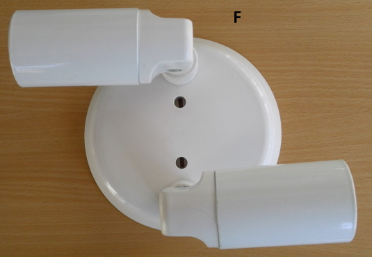 Wall or Ceiling Light Used one. Round Shape.