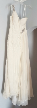 Asymmetrical Drama Queen Gown by Terani in IVORY - Wedding Dess