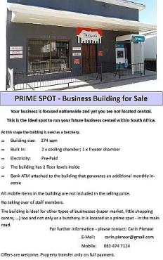 PRIME SPOT - Business Building for Sale