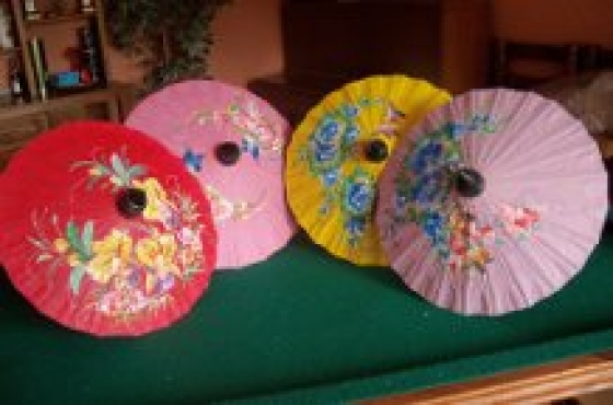 Master craft Chaing Mai umbrellas for sale