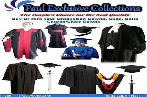Quality Graduation gowns/hats, court gowns, tracksuits