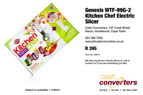 Genesis WTF-99G-2 Kitchen Chef Electric Slicer