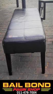 Stylish Leather Bench