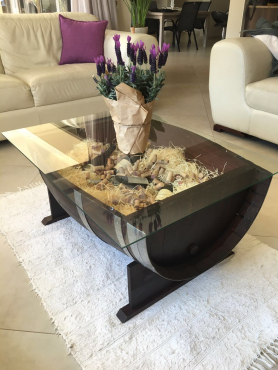 Beautiful Oak Wine Barrel Coffee Tables for sale!!
