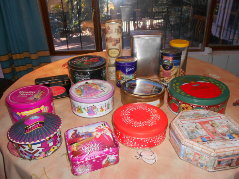 Tins:  Selection of biscuit, sweet and other tins