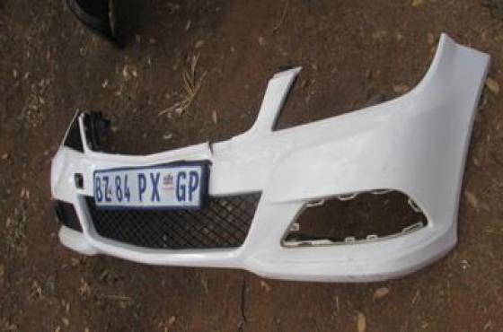 Mercedes W204 Front Bumper White For Sale