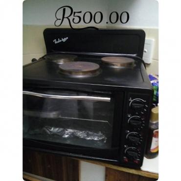 Three plate stove with oven for sale