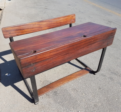 Vintage Double School Desk J 3243