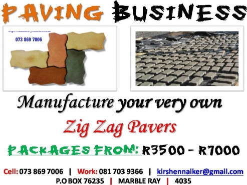 Business for Sale!! - Make 10 Interlocking Pavers at a time