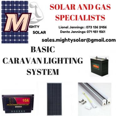 BASIC CARAVAN LIGHTING SOLAR KIT