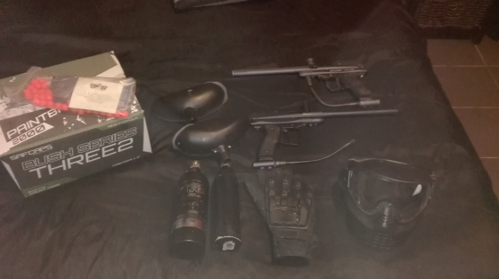 Paintball guns and kit