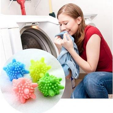 2Pcs Blue Dryer Ball Washing Machine Soften Cloth Magic Drying Laundry Balls