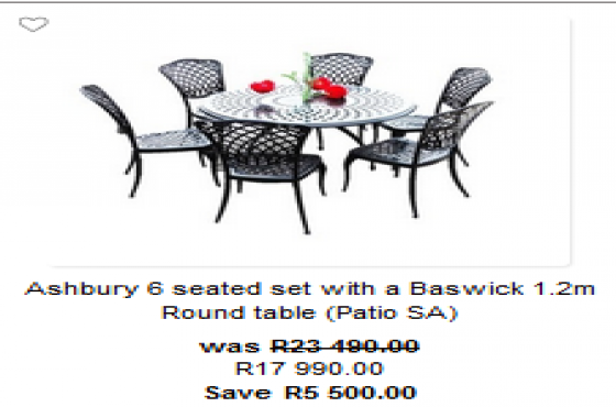 Garden And Patio Furniture In Cape Town Junk Mail