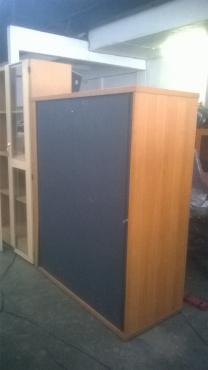 Office Wood Sliding Door Cabinet