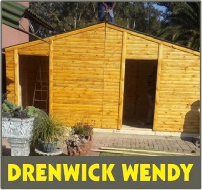 3x3m Knotty pine with double doors and a window