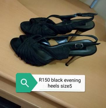Black evening heels for sale.