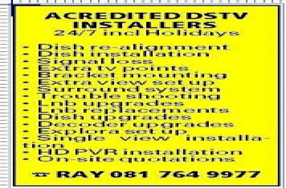 Elsies Rivier DSTV Installer (Elsies Rivier) 24/7-0817649977
