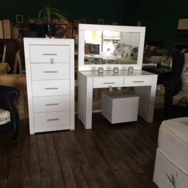 Janel 2 Drawer Dressing Table - White