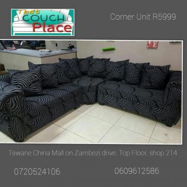 New large corner lounge suite.
