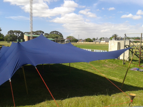 Navy blue Bedioun stretch tent for rent
