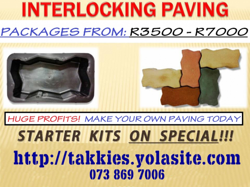 For ONLY R3500 own a Paver MANUFACTURING business