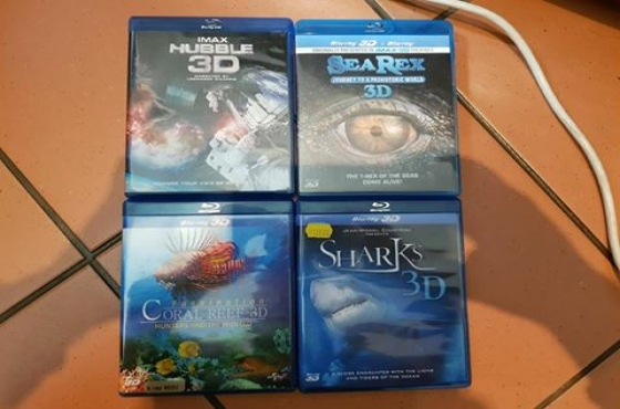 3D DVD's for sale