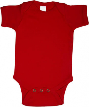 We supply blank onesies- blank red onesies in stock 100% cotton