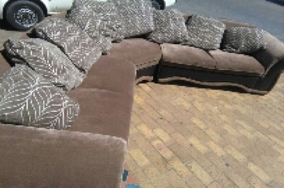 Material Corner Couch for sale