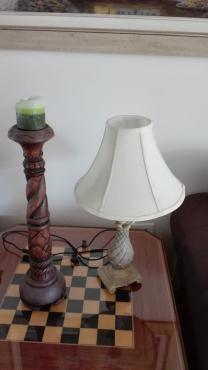 Bali candlestick and lamp
