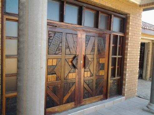 Railway Sleeper Doors