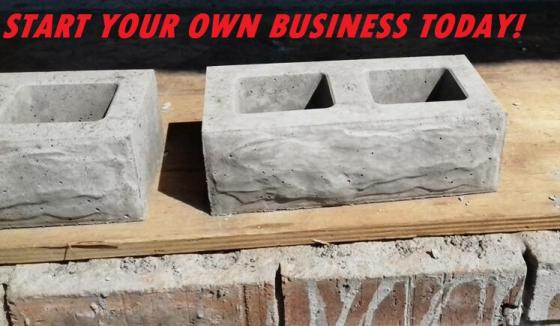 Rock Design Block Manufacturing Business FOR SALE