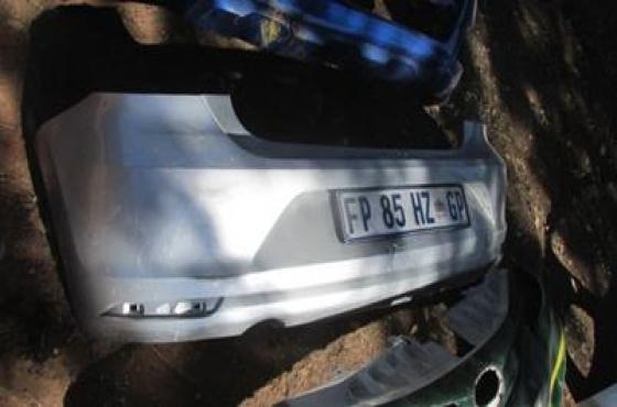 2014 Volkswagen Polo 6 Rear Bumper Silver For Sale
