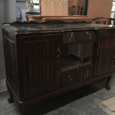 Vintage Imbuia ball and claw sideboard