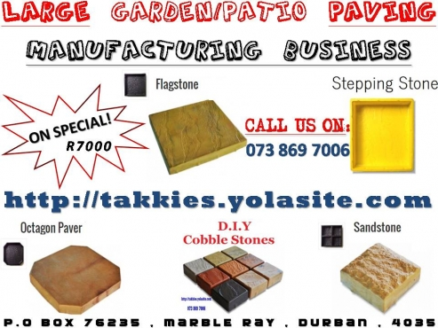 Manufacture your very Paving Slabs - BUSINESS FOR SALE