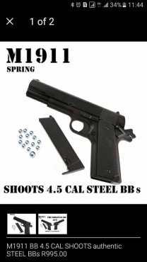 Non lethal hand gun with about 40 bullets