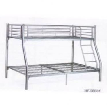 Double bed bottom and single at the top