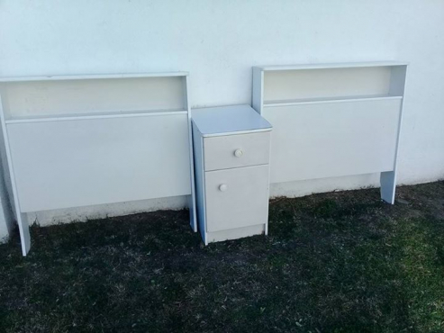 2 Ducoed single bed ends