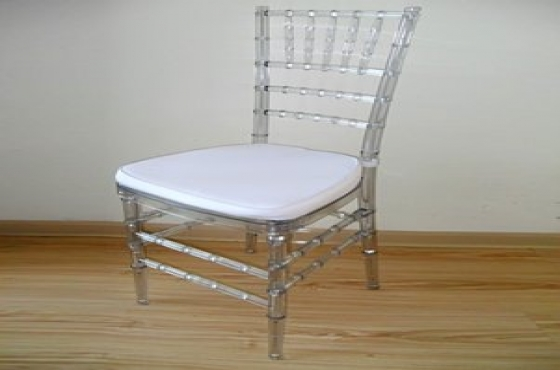 Tiffany Chair - Resin Clear Chair -  with Cushion ​