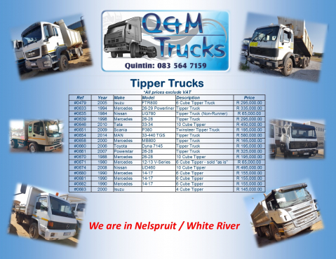 Tippers & Tankers Galore!