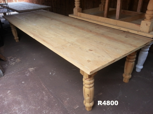 14 Seater Solid Pine Farmstyle Table (3500x1200x760)