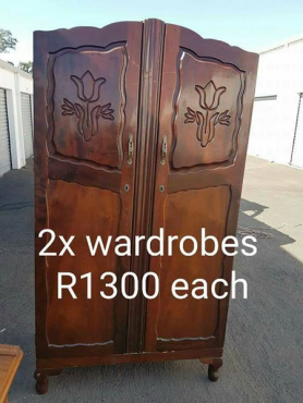 2 X wardrobes for sale