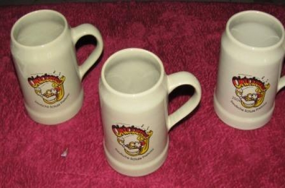 Set of 3 x October Fest Beer mugs