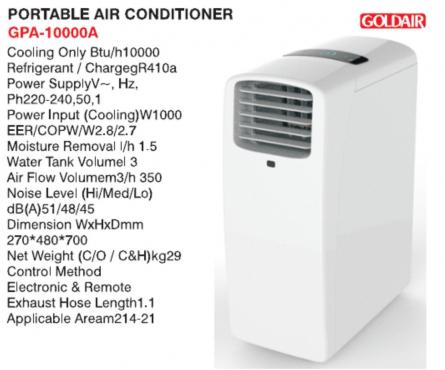 Goldair Portable Airconditioner