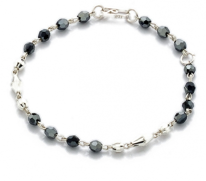 Sterling Silver Ladies Bracelet with Swarovski Crystals
